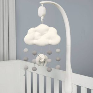 Mamas & Papas Welcome To The World Musical Mobile - Grey