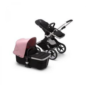 Bugaboo Fox 2 Alu Frame / Black Fabrics / Soft Pink Canopy