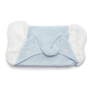 Mamas & Papas Hooded Towel - Elephant Blue