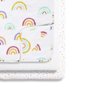 Snuz 3 Piece Crib Bedding Set - Colour Rainbow