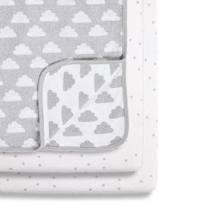 Snuz 3 Piece Crib Bedding Set - Cloud Nine