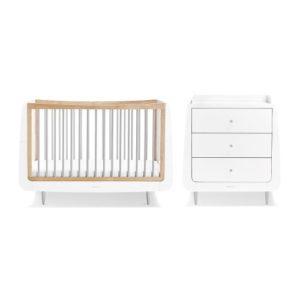 SnuzCot Skandi 2 Piece Nursery Furniture Set - Grey
