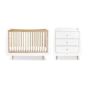 SnuzCot Skandi 2 Piece Nursery Furniture Set - Natural