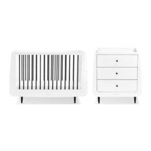 SnuzCot Skandi 2 Piece Nursery Furniture Set - Mono