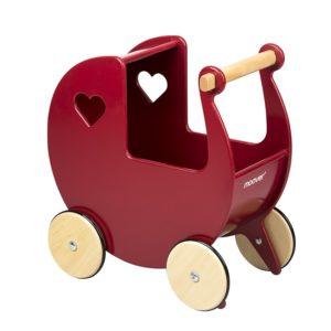 Moover Push Along Dolls Pram - Red