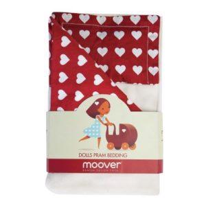 Moover Dolls Pram bedding set - Red