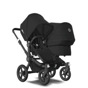 Bugaboo Donkey 3 Duo Stroller Black Chassis - Black Fabrics Black Canopy