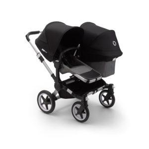 Bugaboo Donkey 3 Duo Stroller Alu Chassis - Grey Fabrics Black Canopy