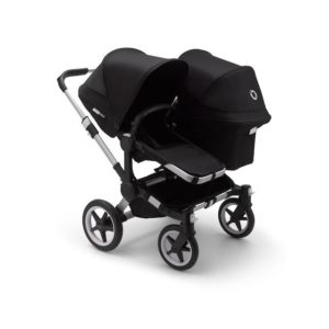 Bugaboo Donkey 3 Duo Stroller Alu Chassis - Black Fabrics Black Canopy