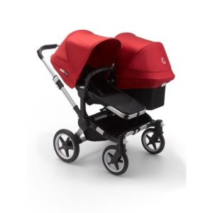 Bugaboo Donkey 3 Duo Stroller Alu Chassis - Black Fabrics Red Canopy
