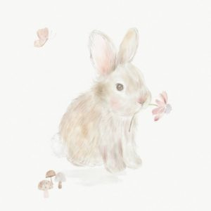 M&P Welcome To the World Bunny Print Picture