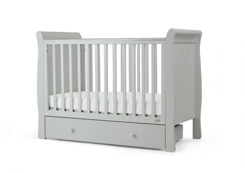 Mamas & Papas Mia Sleigh Cot & Under Cot Storage - Cool Grey