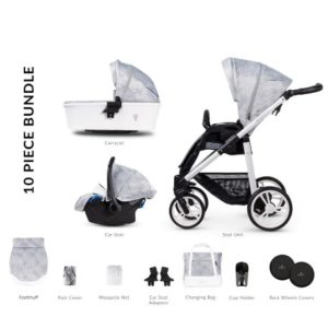 Venicci Pure2 Cloud - 10 Piece Travel System Bundle