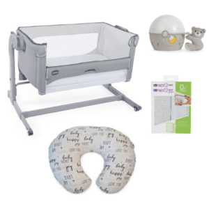 Chicco Next 2 Me Magic and Accessories Bundle - Cool Grey