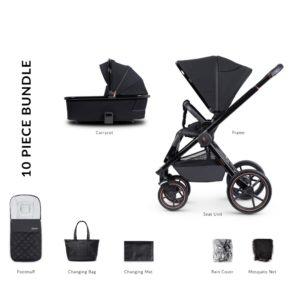 Venicci Tinum Special Edition 2 in 1 Bundle - Stylish Black