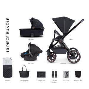 Venicci Tinum Special Edition 3 in 1 Bundle - Stylish Black