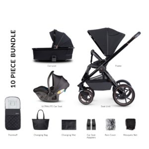Venicci Tinum Special Edition Ultralite i-Size Bundle - Stylish Black