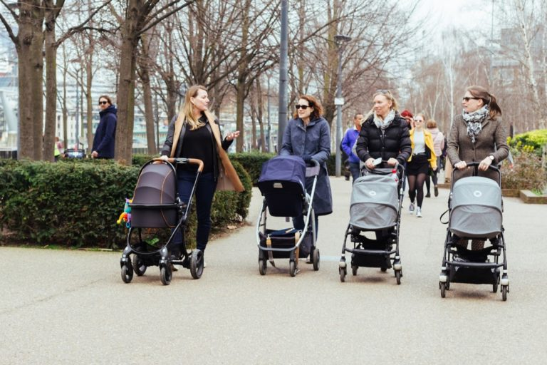 Mums with pushchairs